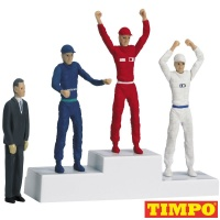 21121 Victors' podium with set of figures