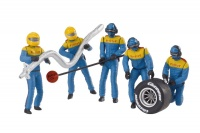 21132 Set of figures, mechanics, blue
