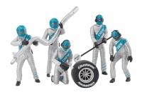 21133 Set of figures, mechanics, silver