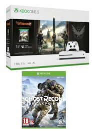XONE S 1TB + Division 2 + Ghost Recon Breakpoint