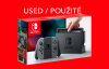 Nintendo Switch console with gray Joy-Con
